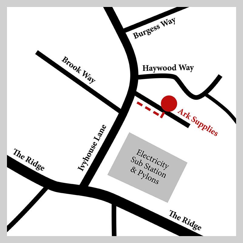 Ivyhouse Lane Map